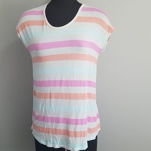 Pink Rose Cream & Pink Short Sleeve Tee Shirt